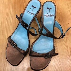 Thierry Rabotin Bronze Copper Sandals size 41